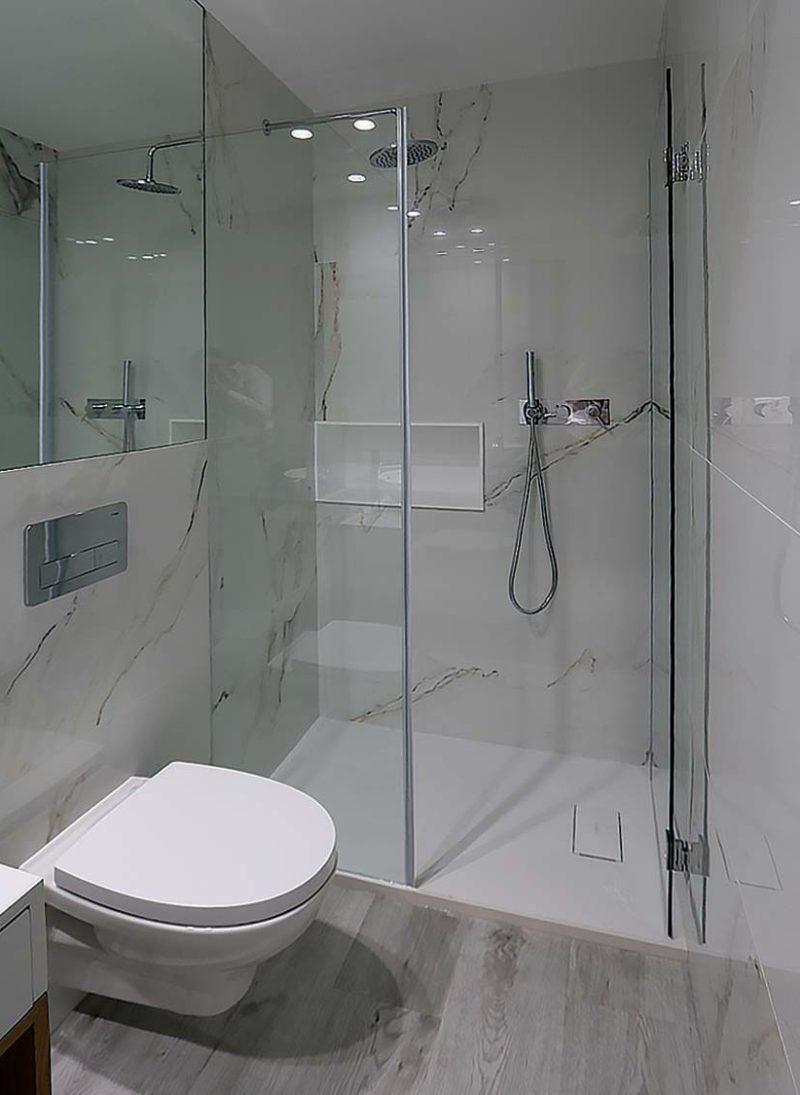 Casa das Fontes, Reformulação de casa. CAsa de Banho de serviço com ceramico. Projeto Obra Atelier