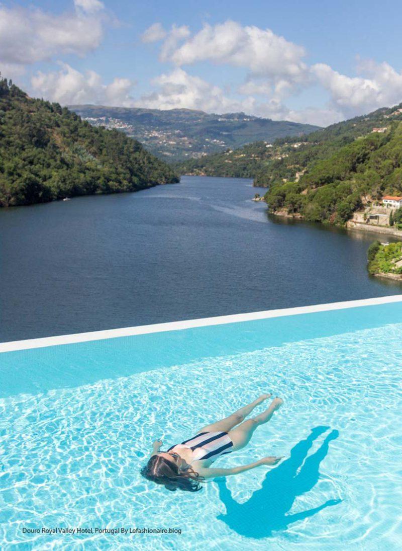 Piscina infinita: 12 piscinas de tirar o folego. piscina infinita no Douro Royal Valley Hotel, Portugal. Blog Obra Atelier